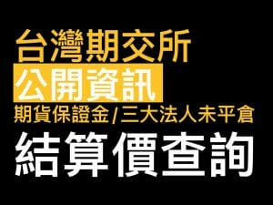 Read more about the article 台灣期交所公開資訊